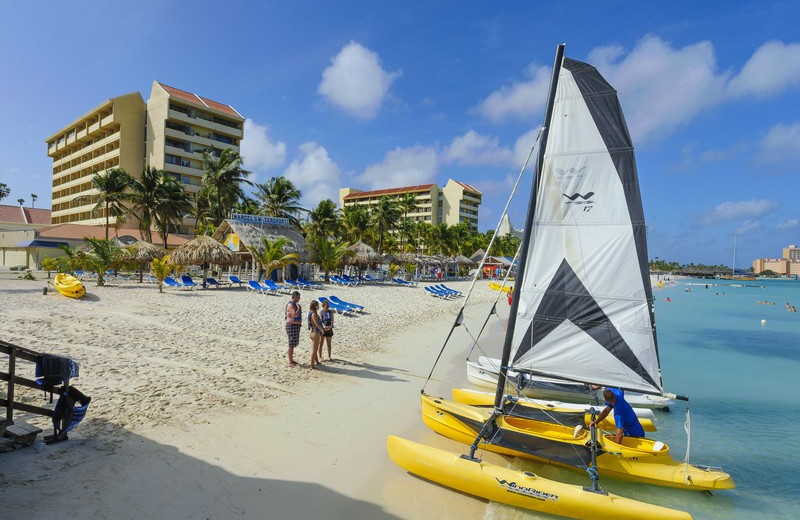Beach at Occidental Grand Aruba.