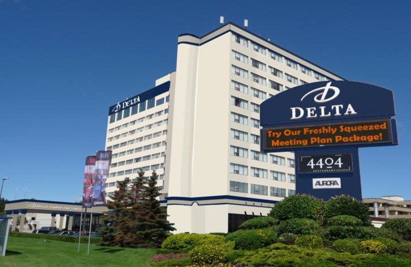 Exterior view of Delta Edmonton South Hotel and Conference Centre.