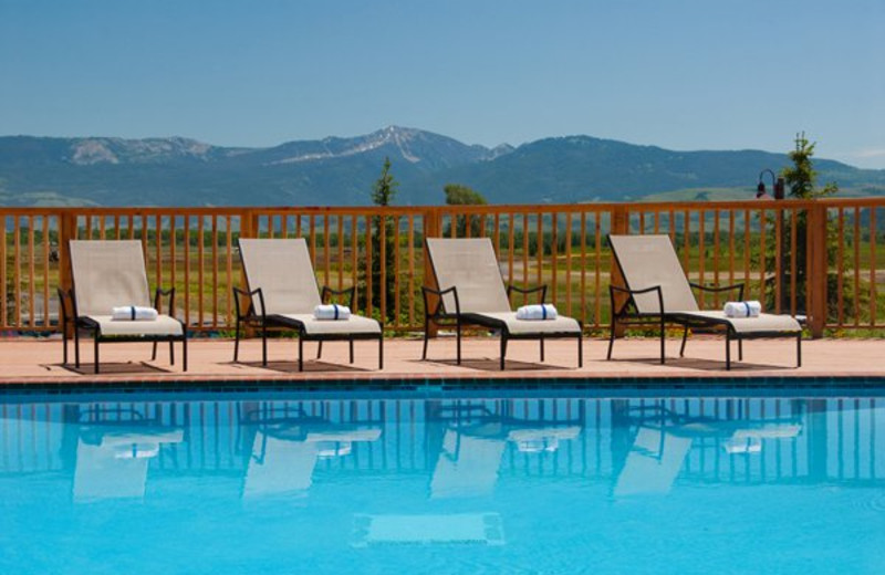 Outdoor pool at The Inn at Jackson Hole.