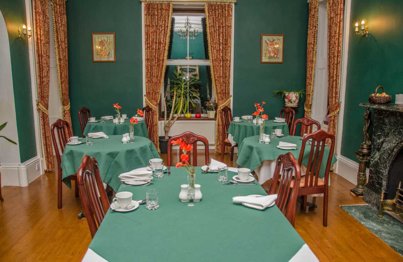 Dining room at Glendruidh House Hotel.