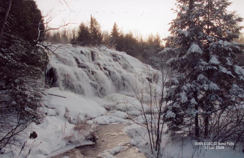 Waterfall near Edgewater Inn & Cottages.