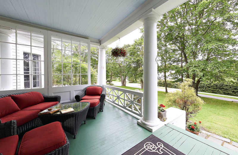 Porch at Birchwood Inn.