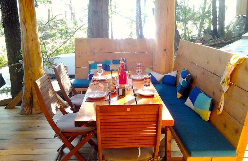 Dining at Cabana Desolation Eco Resort.