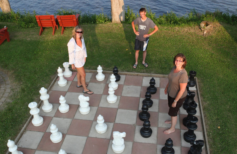Giant chess at Southview Cottages Resort.