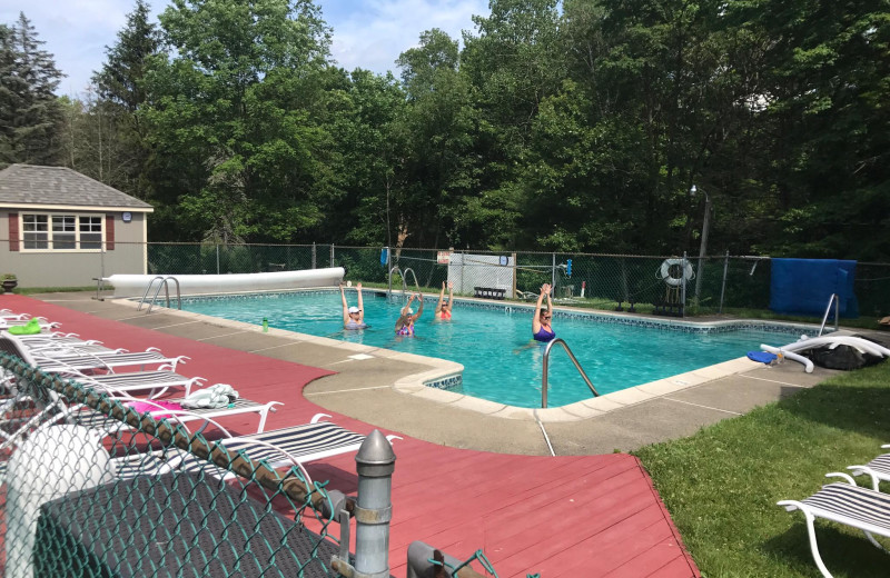 Outdoor pool at Deerfield Spa.