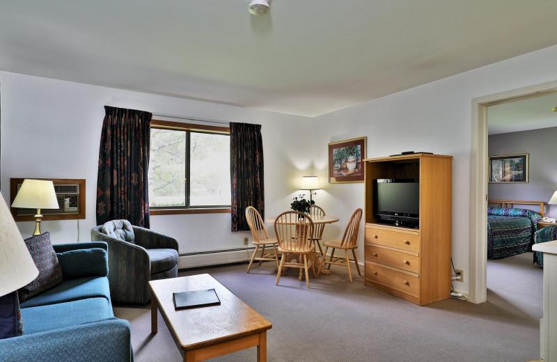Rental living room at Killington Rental Associates.