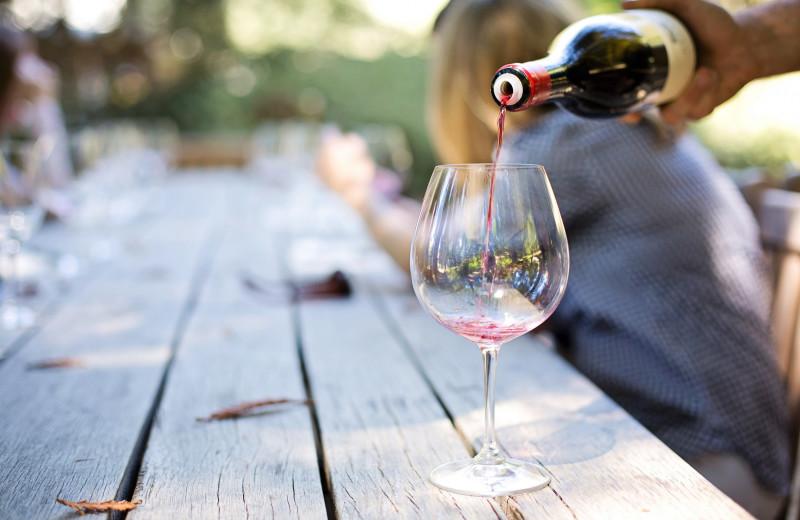 Wine tasting near Aurora Park Cottages.