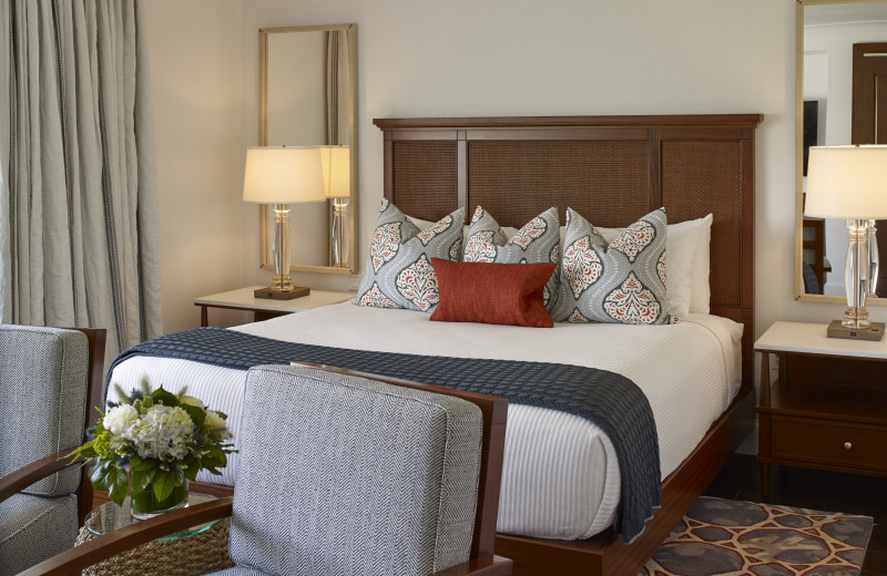 Guest bedroom at Inn by the Sea.