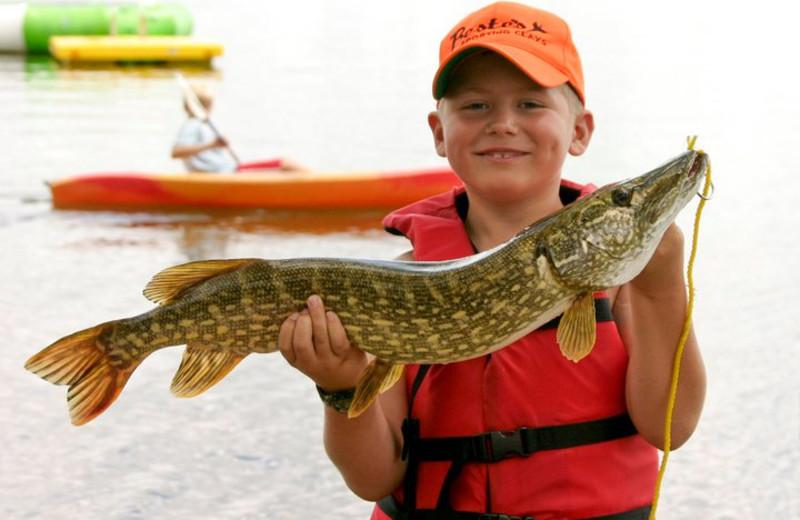 Fishing at Brophy Lake Resort.