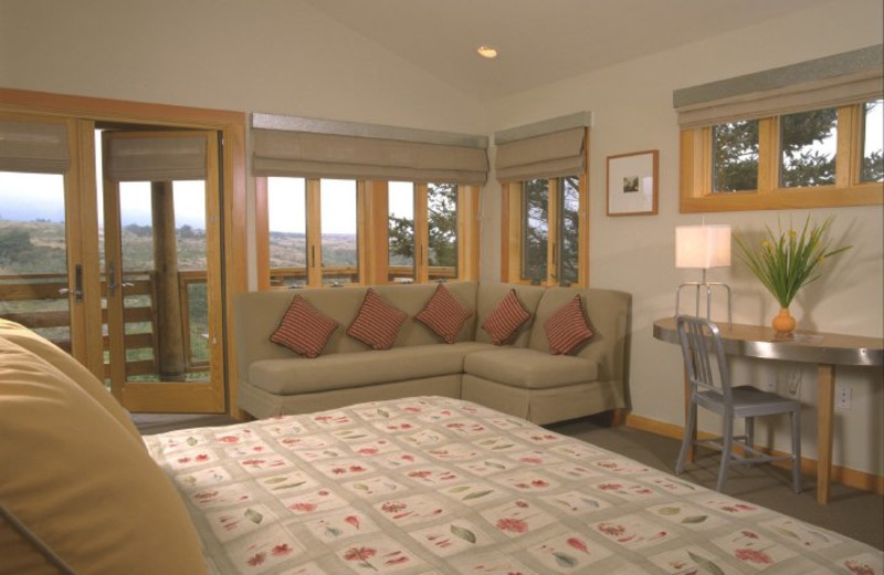 Guest room at Costanoa Coastal Lodge and Camp.