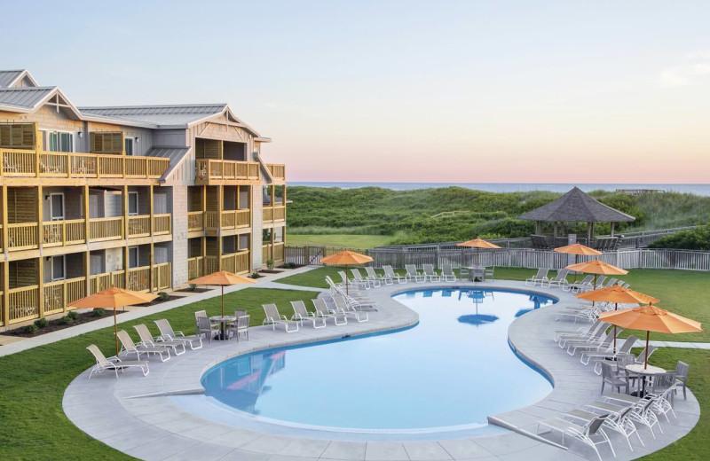 Outdoor pool at The Sanderling Resort