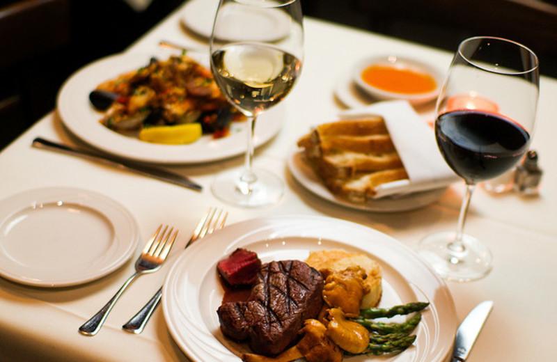 Dining at Hotel La Rose.