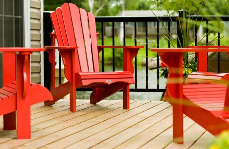 Cabin deck at Great Blue Resorts- Shamrock Bay Resort.