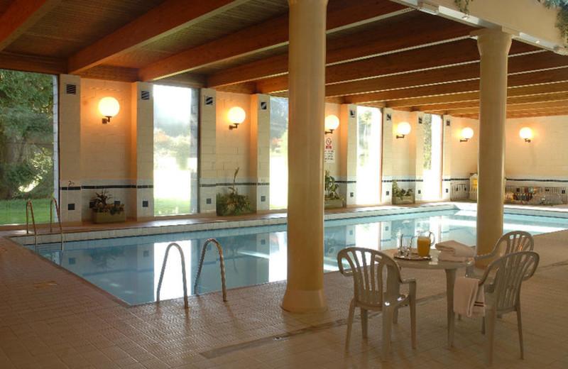 Indoor pool at Cally Palace Hotel.