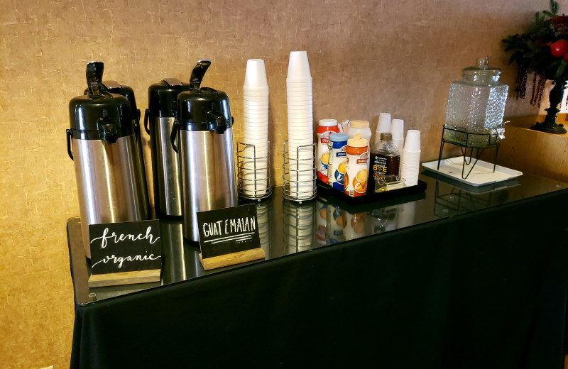 Coffee at Rushmore Express Inn & Family Suites.