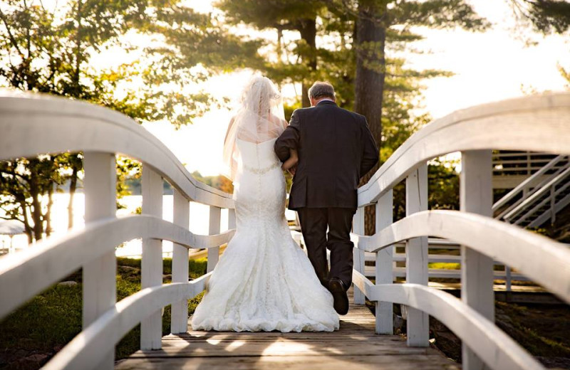 Wedding couple at Bonnie Castle Resort.