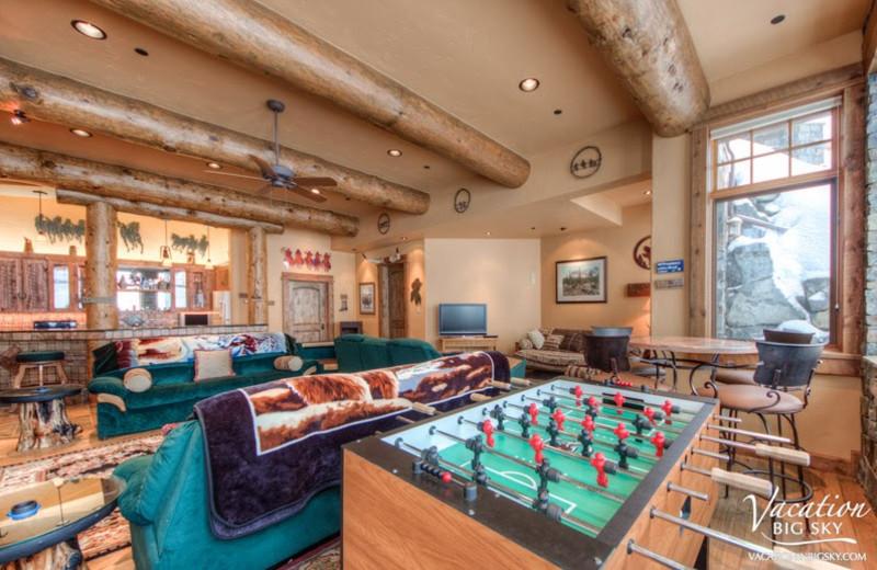 Rental game room at Big Sky Luxury Rentals.