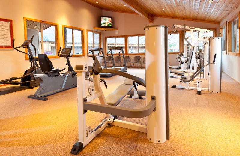 Fitness room at Red Cliffs Lodge.