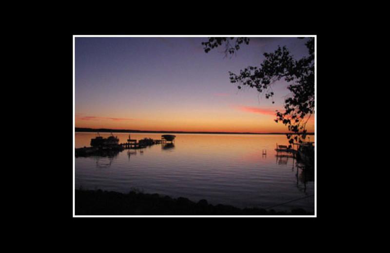 Sunset at Reel Livin' Resort.