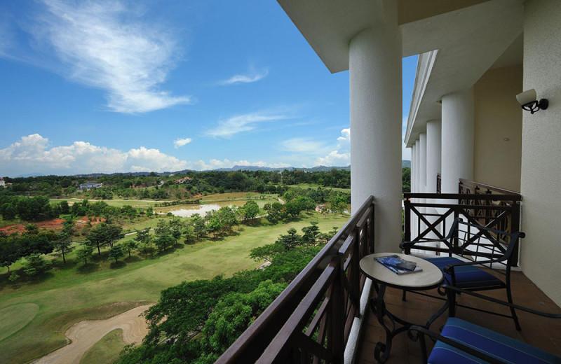 Balcony view at Hotel Equatorial Bangi.