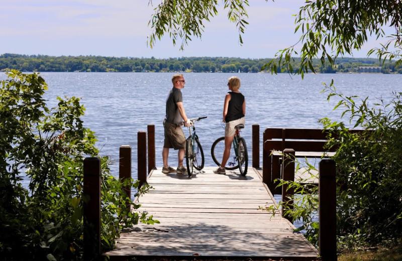 Biking at Heidel House Resort.