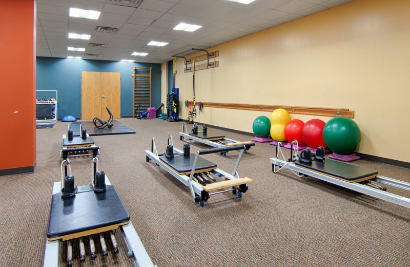 Fitness room at Boar's Head Resort.