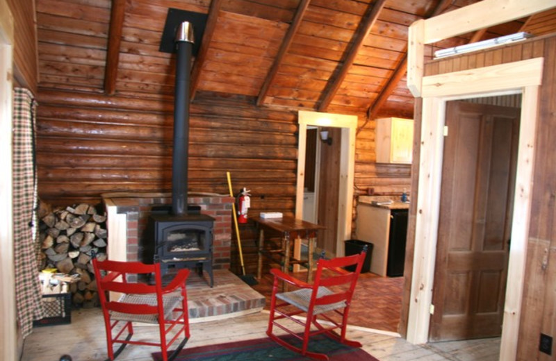 Cabin interior at Bald Mountain Camps Resort.