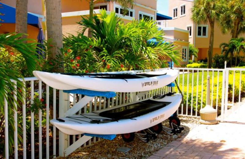 Kayaking at Sand Cay Beach Resort.