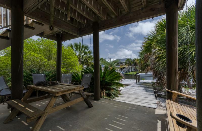 Rental patio at Vacation Homes Perdido Key.