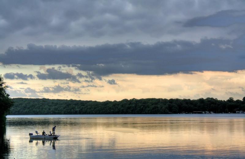 Fishing on East Silent Lake at East Silent Resort.