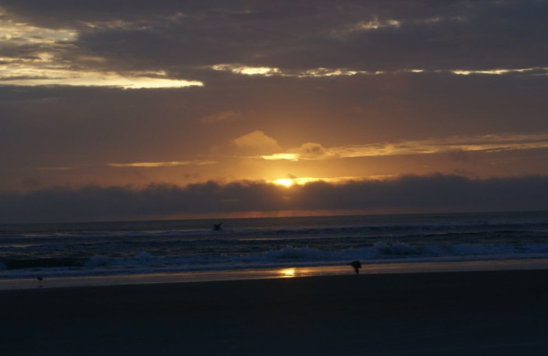Sunset at Daytona Shores Inn and Suites.