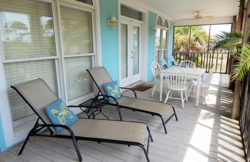 Rental balcony at ACP Vacation Rentals.