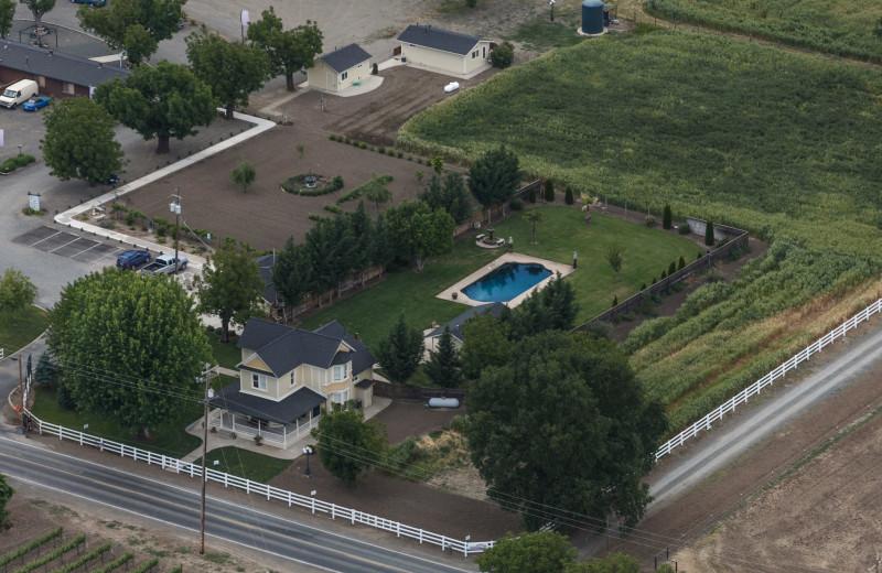 Aerial view of Rancho De LA Fuente.