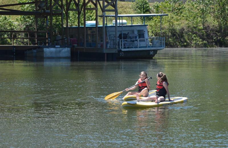 Water activities at Mountain Harbor Resort & Spa.