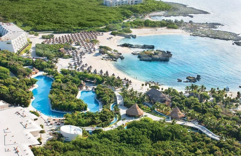 Aerial view of Grand Sirenis Riviera Maya Resort and Spa.