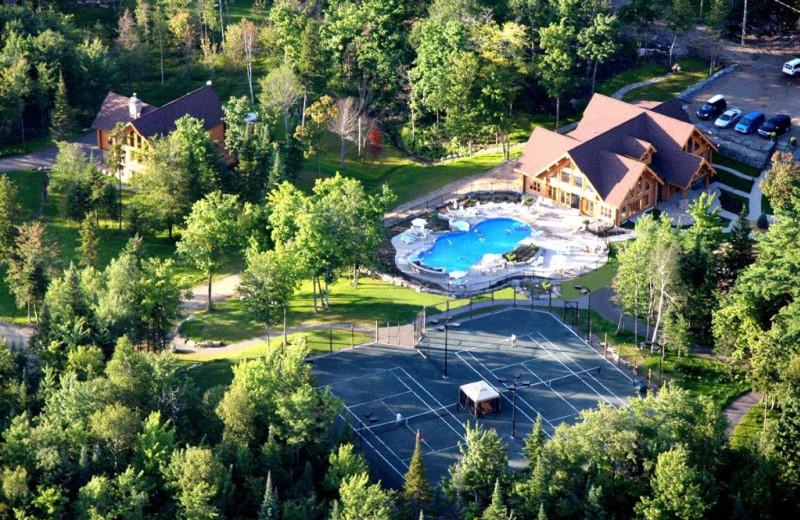 Aerial view of Fiddler Lake Resort.
