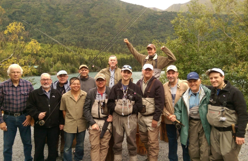 Groups at Kenai River Drifter's Lodge.