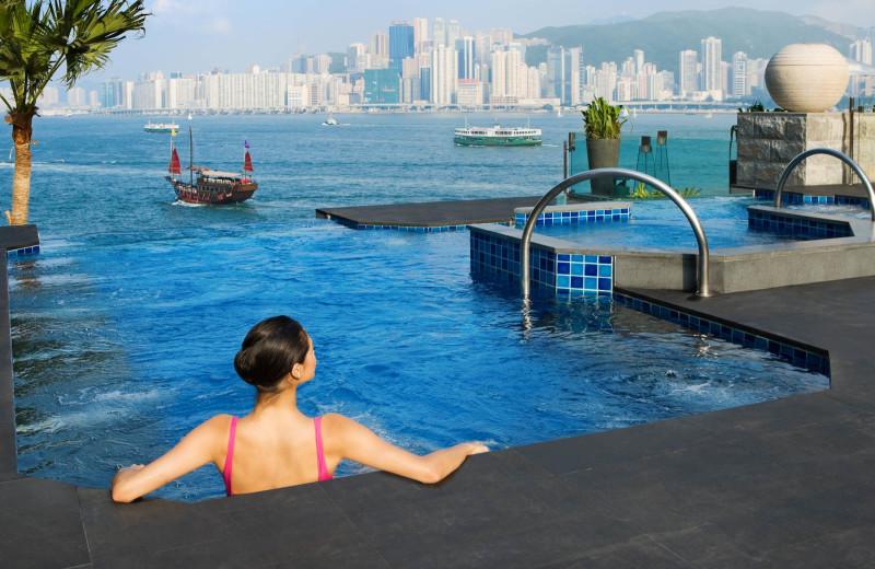 Outdoor pool at InterContinental Hong Kong.