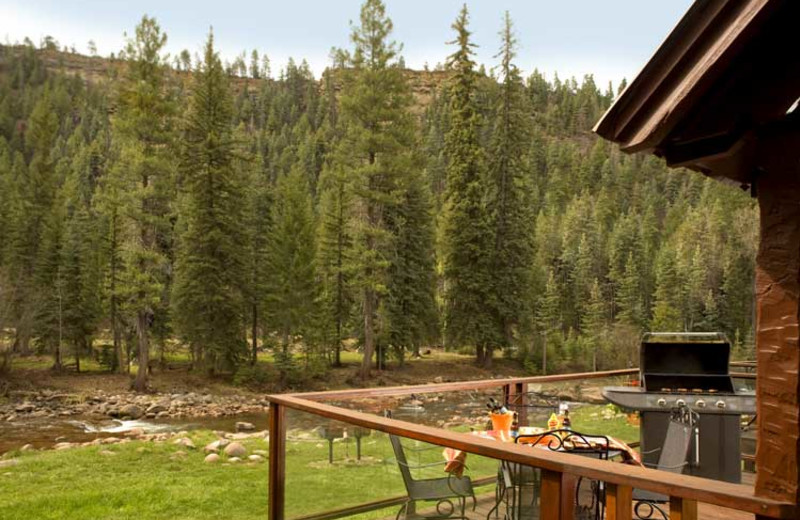 Cabin view at O-Bar-O Cabins.