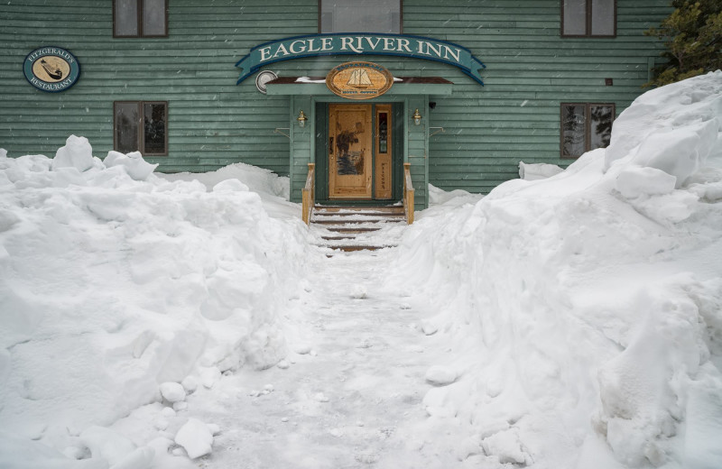 Winter time at Eagle River Inn.