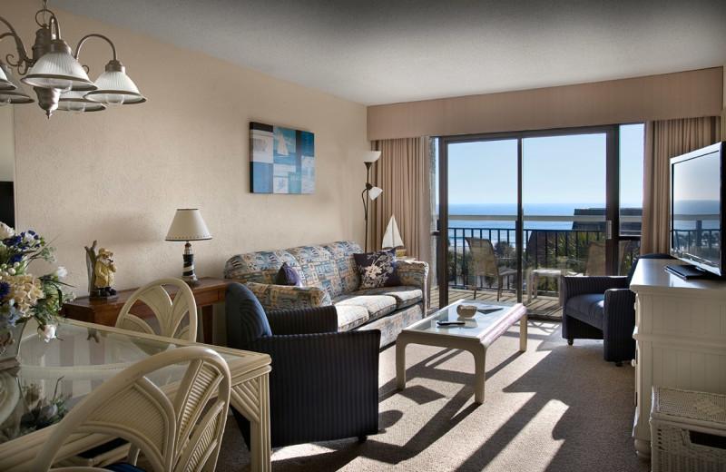 Guest room at Carolina Winds.