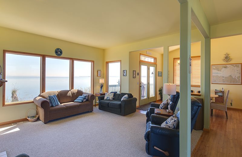 Rental living room at Sequim Valley Properties.