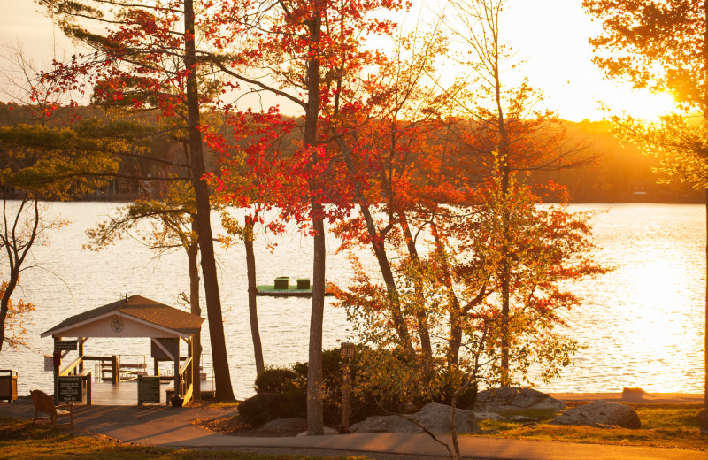 Lake at Woodloch Resort.