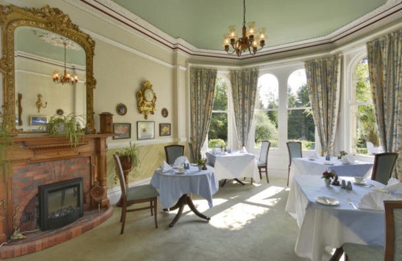 Dining at Stock Hill Country House Hotel.