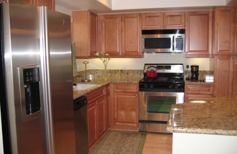 Rental kitchen at A Carlsbad Vacation Rental.