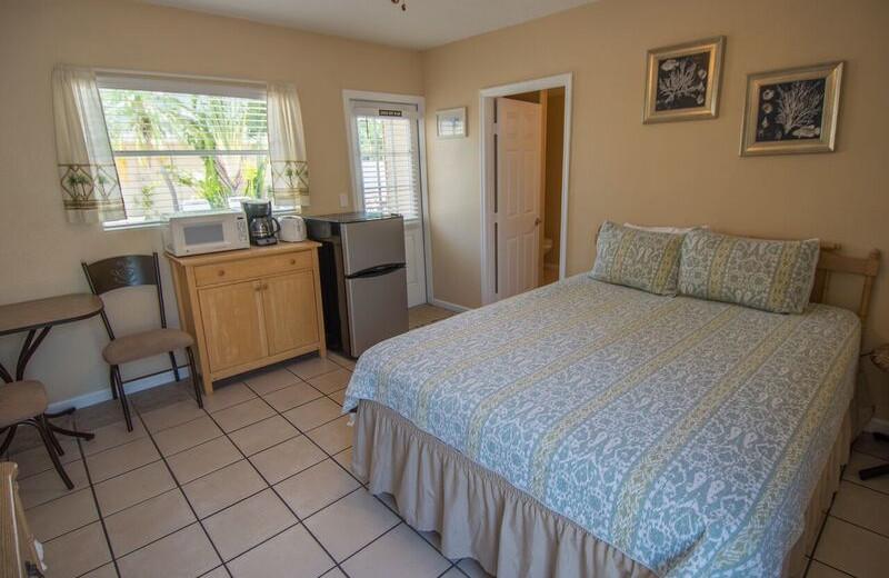 Guest bedroom at Anna Maria Island Inn.
