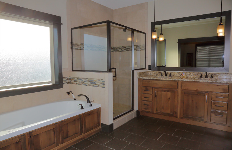 Guest bathroom at Antlers Resort.