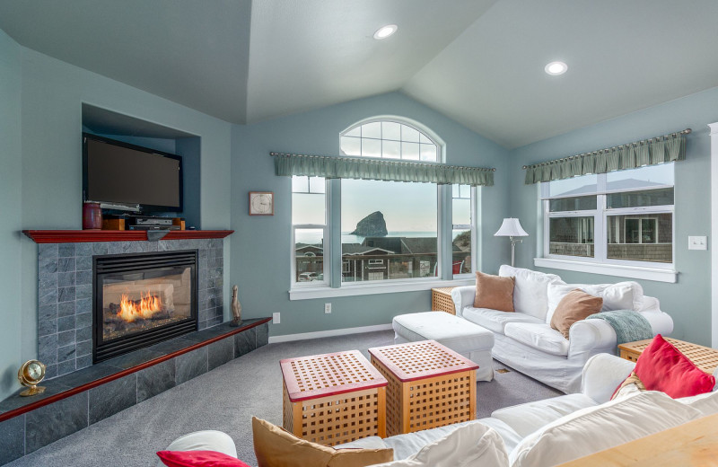 Rental living room at Kiwanda Coastal Properties.