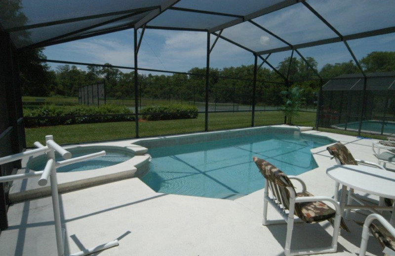 Private pool vacation rental at Elite Vacation Homes.