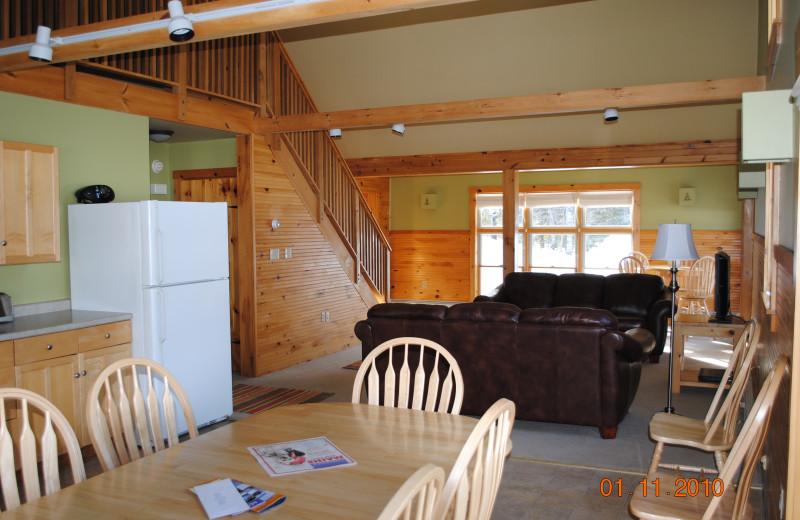 Cabin interior at New England Outdoor Center.